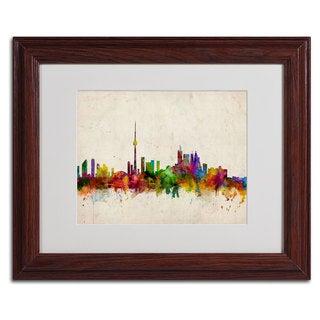 Michael Tompsett 'Toronto Skyline' Framed Mattted Art