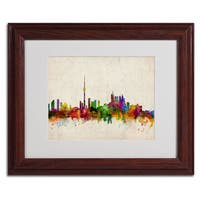 Michael Tompsett 'Toronto Skyline' Framed Mattted Art