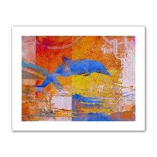 Greg Simanson 'Dolphin' Unwrapped Canvas