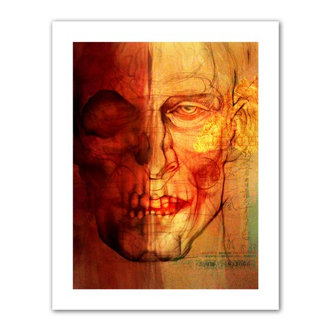 Greg Simanson 'Facial Anatomy' Unwrapped Canvas