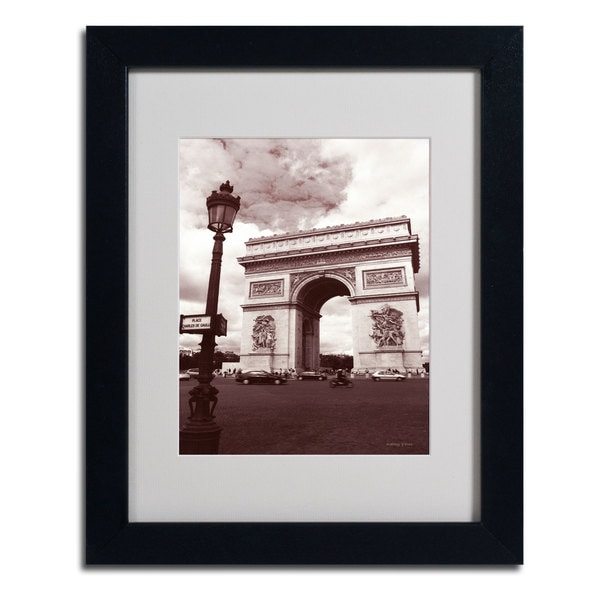 Kathy Yates 'Arc de Triomphe' Framed Mattted Photography Art