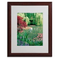 Kathy Yates 'Monet's Lily Pond 2' Giclee Framed Mattted Art