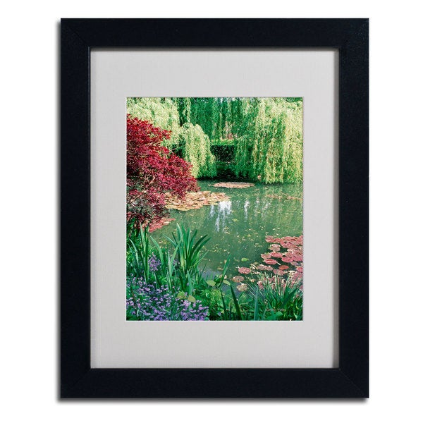 Kathy Yates 'Monet's Lily Pond 2' Framed Mattted Art