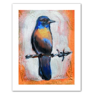 Susi Franco 'Bird on a Wire' Unwrapped Canvas