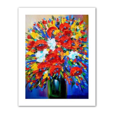 Susi Franco 'Happy Foral' Unwrapped Canvas