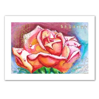 Susi Franco 'Pink Rose Dew' Unwrapped Canvas