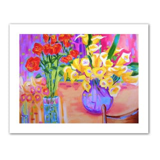 Susi Franco 'Summer Flowers' Unwrapped Canvas