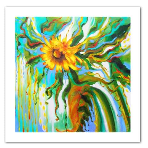 Susi Franco 'Sunflower Melting' Unwrapped Canvas