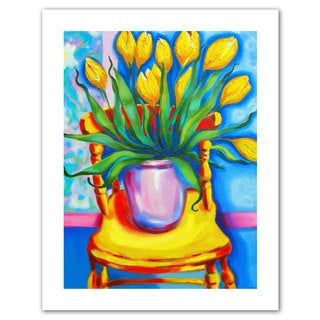 Susi Franco 'Yellow Tulips in van Gogh's Chair' Unwrapped Canvas
