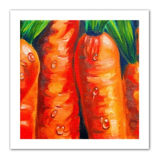 Susi Franco 'Crunchy Carrots ' Unwrapped Canvas