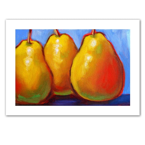 Susi Franco 'Gang of Pears' Unwrapped Canvas