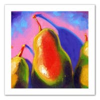 Susi Franco 'Pearfect Shadow' Unwrapped Canvas