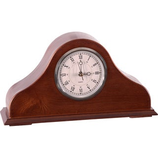 American Furniture Classics Remington Mantel Clock with Concealed Locking Hand Gun Compartment