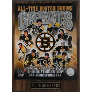Boston Bruins 'All Time Greats' Plaque