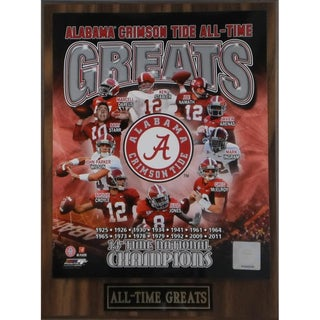 Alabama Crimson Tide 'All Time Greats' Plaque