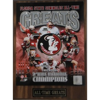 Florida State Seminoles 'All Time Greats' Plaque