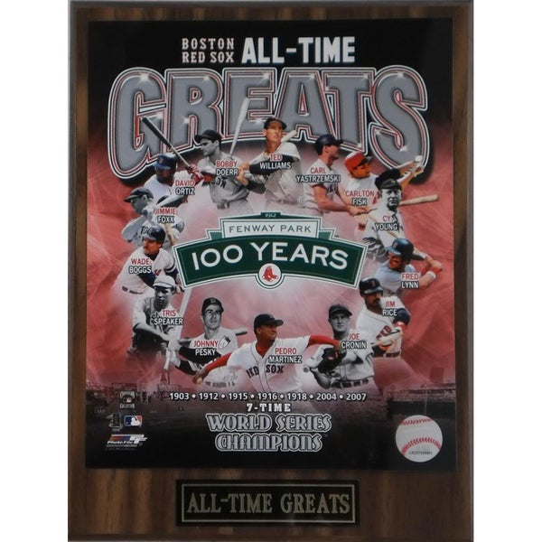 Boston Red Sox 'All Time Greats' Plaque