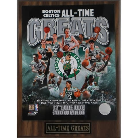 Boston Celtics 'All Time Greats' Plaque