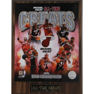 Miami Heat 'All Time Greats' Plaque