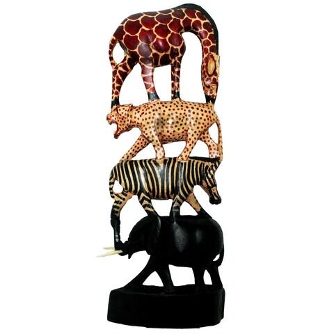 Handmade Stacked Animals Column (Kenya)