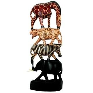Handmade Stacked Animals Column (Kenya)|https://ak1.ostkcdn.com/images/products/8006800/P15371931.jpg?_ostk_perf_=percv&impolicy=medium