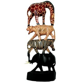 Handmade Stacked Animals Column (Kenya)|https://ak1.ostkcdn.com/images/products/8006800/P15371931.jpg?impolicy=medium