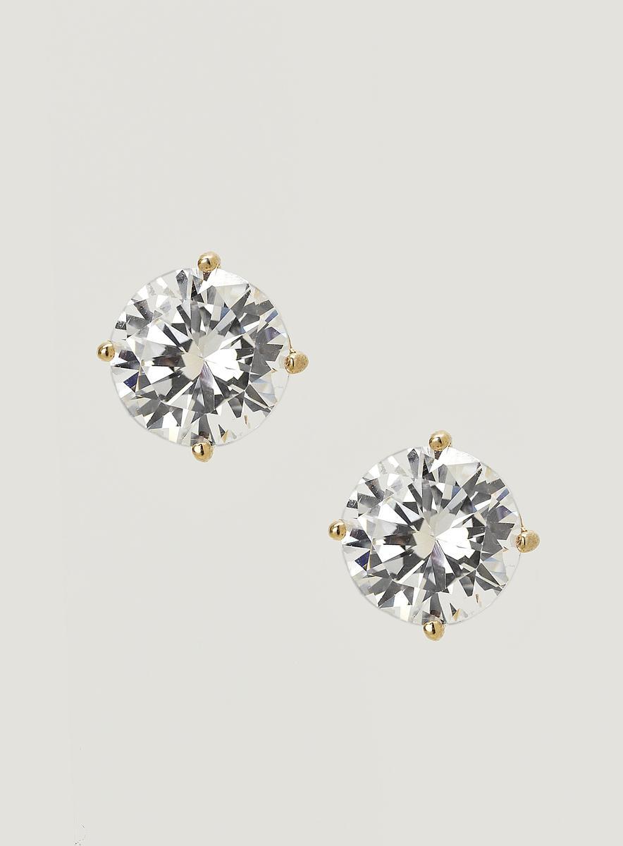 Jokara Cubic Zirconia Stud Earrings 4.0 Ct.t.w.
