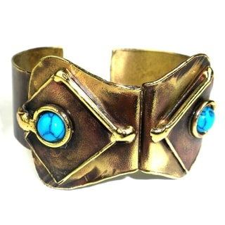 Handmade Folded Turquoise Cuff (South Africa)