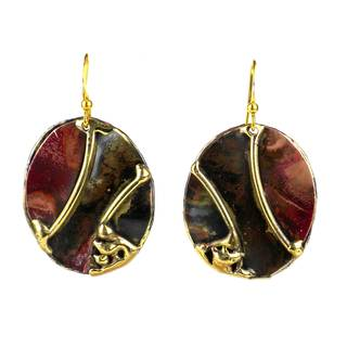 Handmade Earth's Mantle Brass and Copper Earrings (South Africa)
