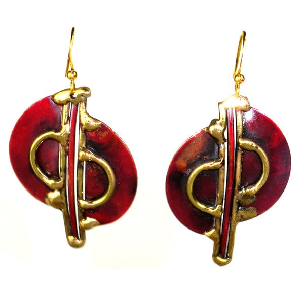 Shop Handmade Cello Brass And Copper Earrings South