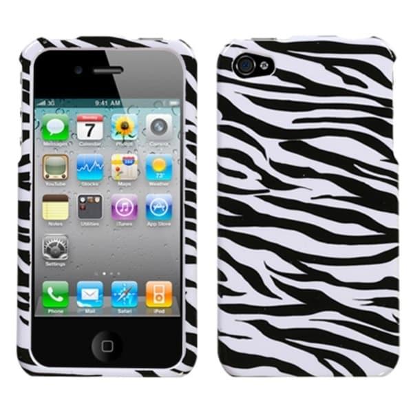 INSTEN Zebra Phone Case Cover for Apple iPhone 4/ 4S
