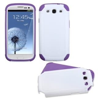 INSTEN White/ Purple Case Cover for Samsung Galaxy S III/ S3 i9300