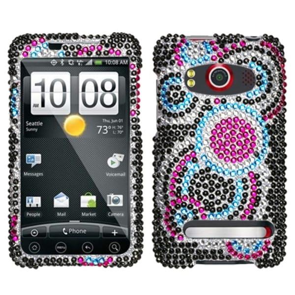 INSTEN Bubble Diamante Phone Case Cover for HTC EVO 4G