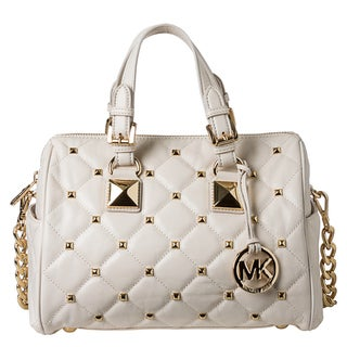 MICHAEL Michael Kors Medium 'Grayson' Quilted and Studded Satchel