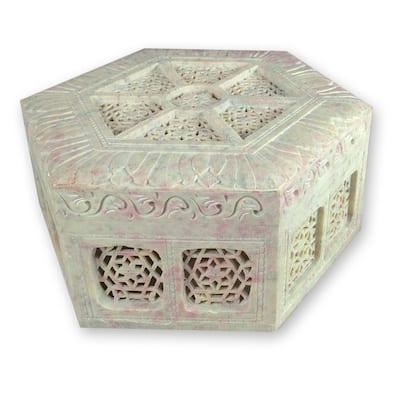 Handmade Soapstone 'Royal Palace' Jewelry Box (India)