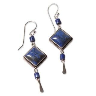 Handmade Sterling Silver 'Legacy' Lapis Lazuli Earrings (Peru)