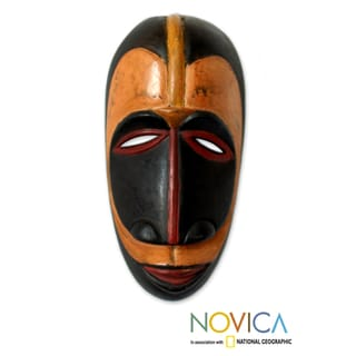 Handcrafted Sese Wood 'Guro Wisdom' African Mask (Ghana)