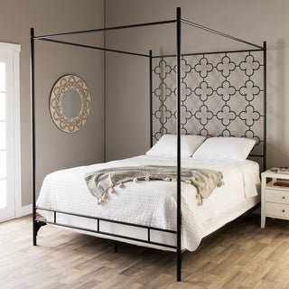 Quatrefoil King Canopy Bed