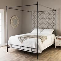 The Curated Nomad Quatrefoil King Canopy Bed