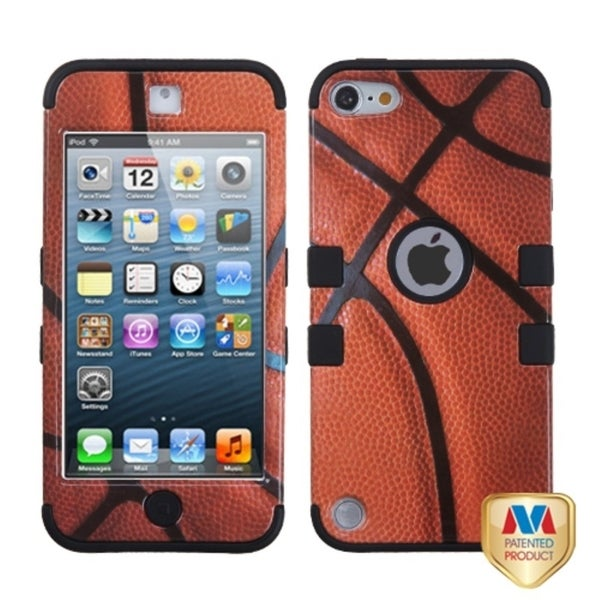 Insten Brown/ Black Basketball Tuff Hard PC/ Silicone Dual Layer Hybrid Glossy Case Cover For Apple iPod Touch 5th/ 6th Gen