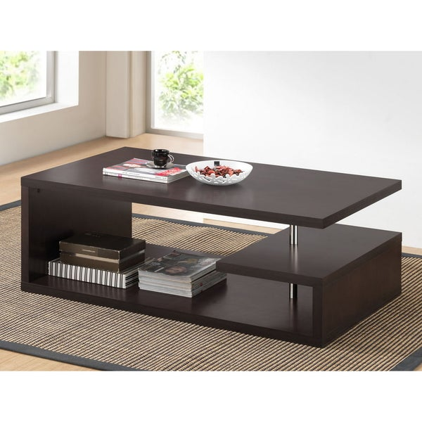 Baxton Studio Lindy Dark Brown Modern Coffee Table Free Shipping Today 15374462