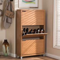 Baxton Studio Simms Modern White Shoe Cabinet