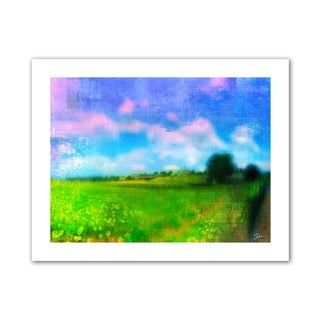 Greg Simanson 'Homeland' Unwrapped Canvas - Blue/Green