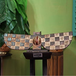 Handcrafted Sese Wood 'Bwa Butterfly Bat' African Mask (Ghana)