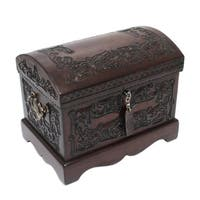 Handmade Colonial Mystique Treasure Chest with Bronze Lock  Artisan Jewelry Box (Peru)