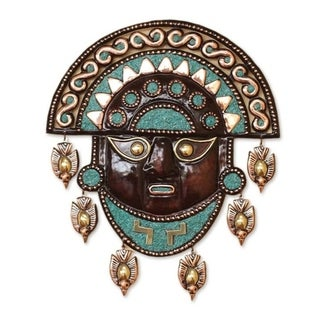 Bronze and Copper 'Mighty Moche' Mask