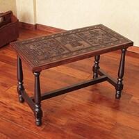 Leather Covered Coffee Table Shapeyourmindscom - Leather covered coffee table