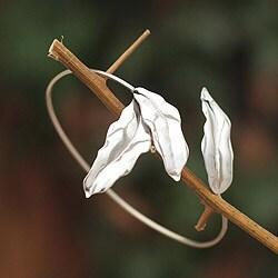 Handmade Sterling Silver 'Winter Leaves' Bracelet (Peru)