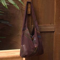 Cotton 'Breath of the Earth' Large Shoulder Bag (Thailand)