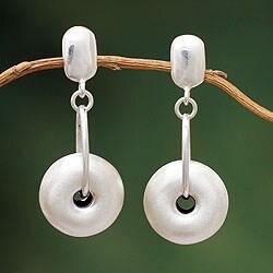 Handmade Sterling Silver 'Andean Charm' Earrings (Peru)